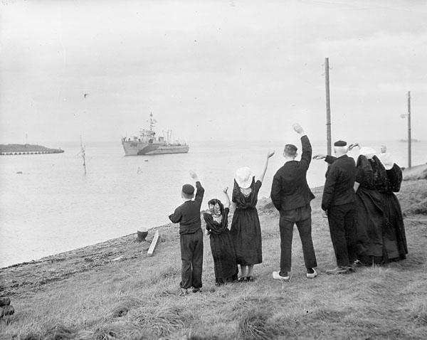 Royal Navy Ships Clear Scheldt River