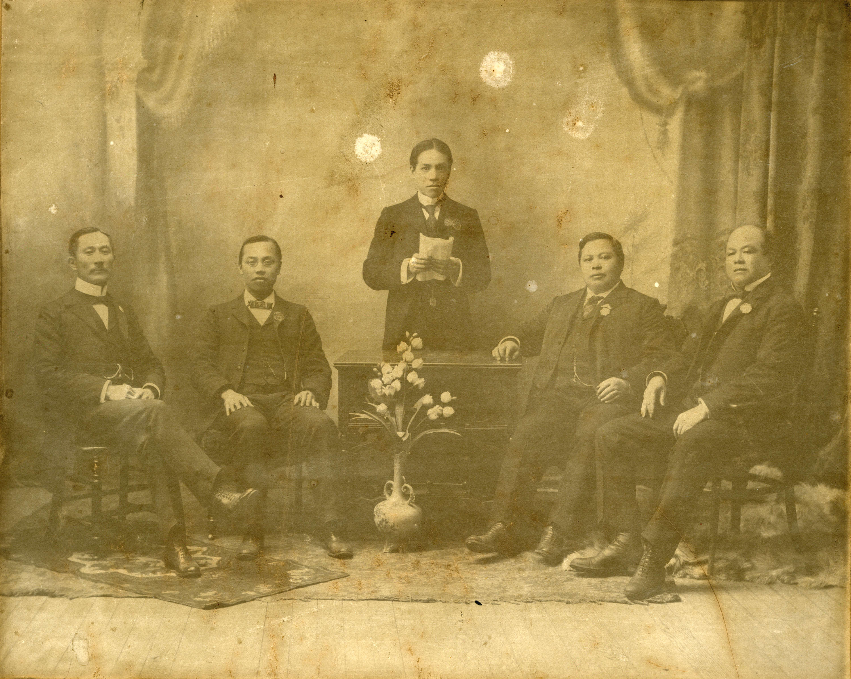 Photo des membres  du Chinese Empire Reform Association, vers 1900