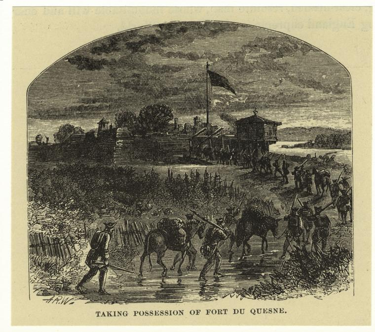 Taking possession of Fort Duquesne
