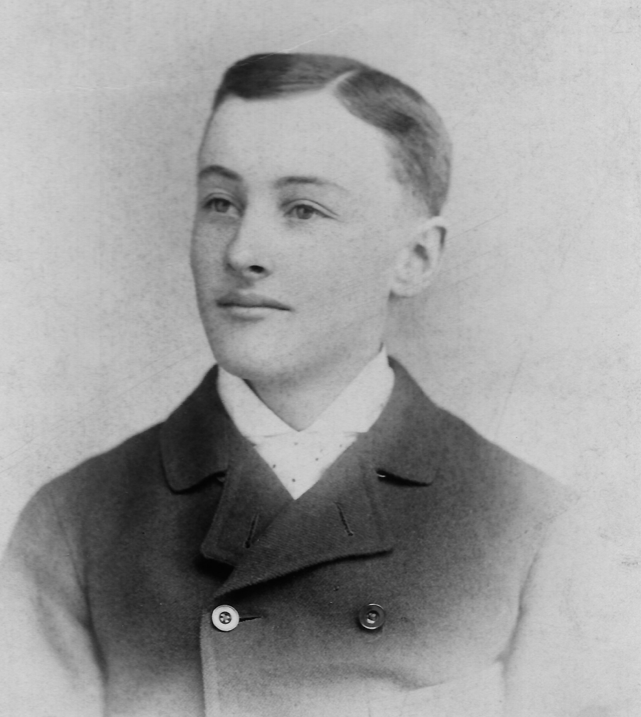 Photographic portrait of George Foote Foss at the age of 21