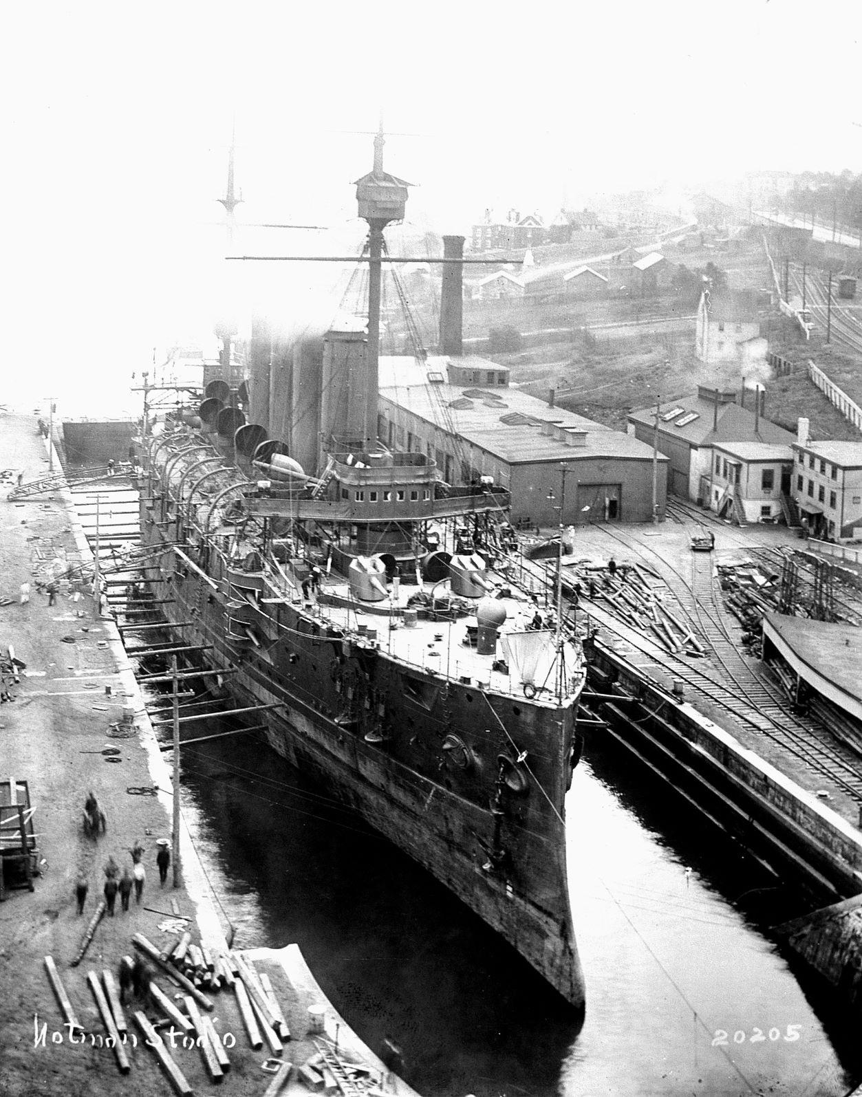 HMCS Niobe in Drydock