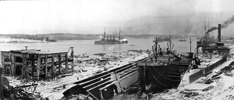 HMCS Niobe and the Halifax Explosion