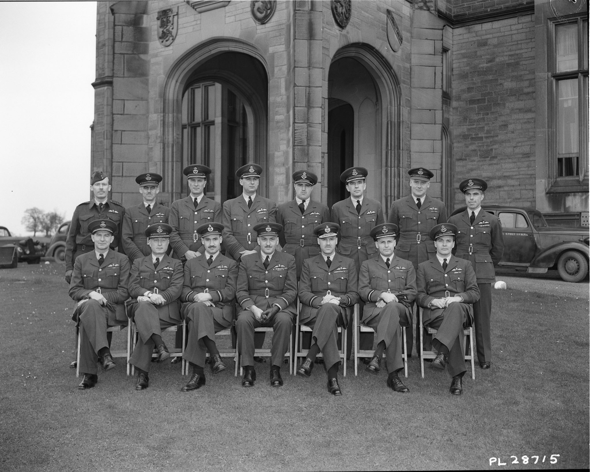 RCAF Officers at Allerton Hall, 1944