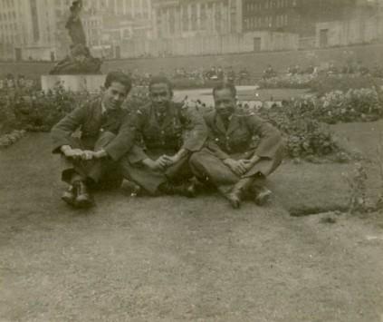 Mr. Braithwaite with two fellows in England.