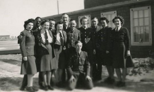 Mr. Braithwaite with comrades.