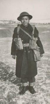 Private Ed Lee at Maple Creek, Saskatchewan, 1944.