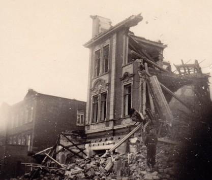 Ruins of Oldenburg, Germany, 1945.