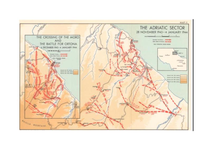 Bataille d'Ortona (carte)