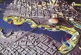 Maquette utilisée pour la planification d'Expo 86