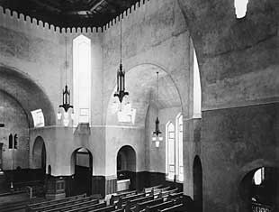 The interior of St. James Anglican in 1937