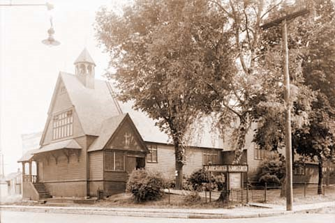The second St. James Anglican church in the 1920s