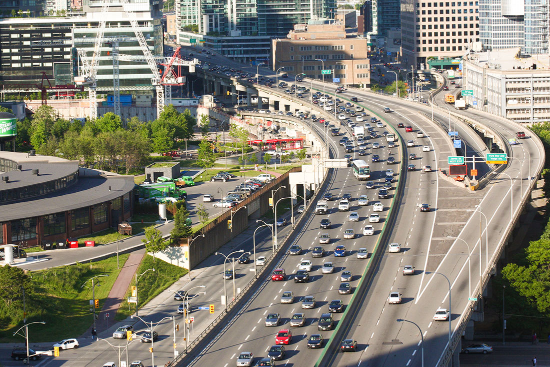 Picture of highway traffic in Toronto, Canada