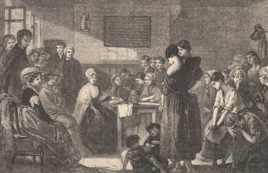 Elizabeth Fry fait la lecture aux prisonnières