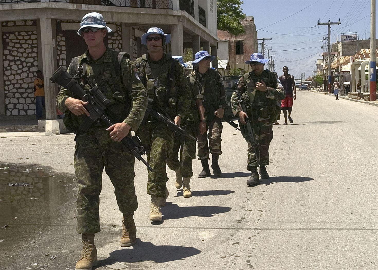 Canadian Peacekeepers in Haiti