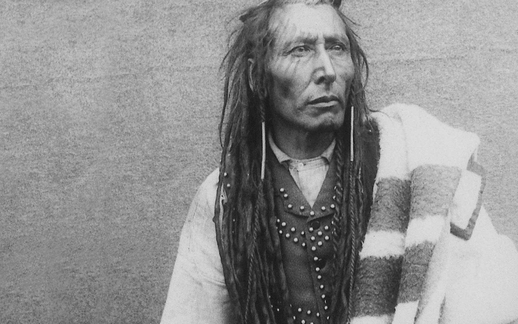 Pitikwahanapiwiyin (Poundmaker), Plains Cree Chief, 1885