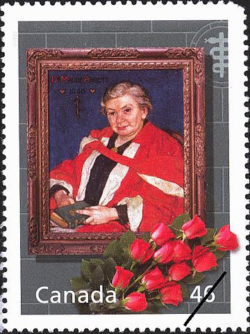 Timbre-poste à l'effigie de Maude Abbott