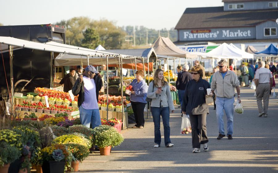 St. Jacobs Ontario, market.