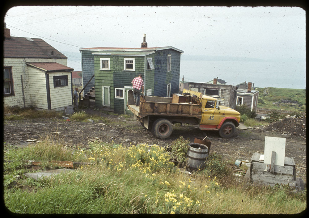 A resident of Africville, Dorothy Carvery, was moved using City of Halifax dumptrucks.