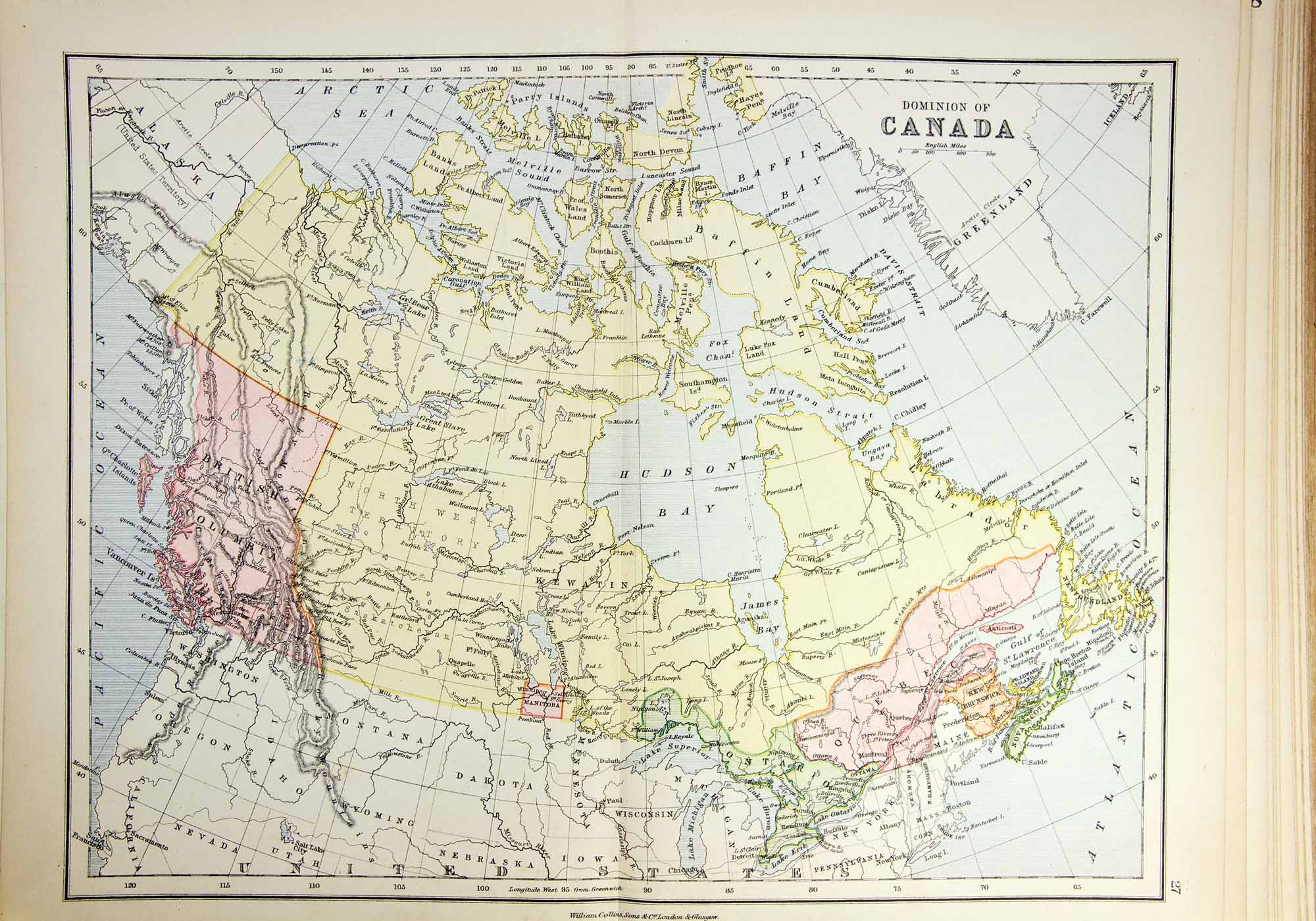 Historical map of Canada.