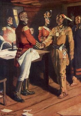 The Meeting of Brock and Tecumseh