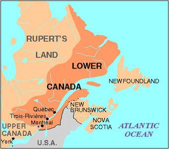 Carte du Bas-Canada