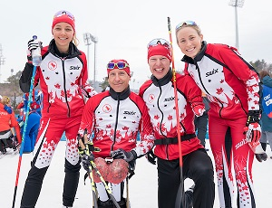 Équipe de relais de fond, Jeux paralympiques de 2018