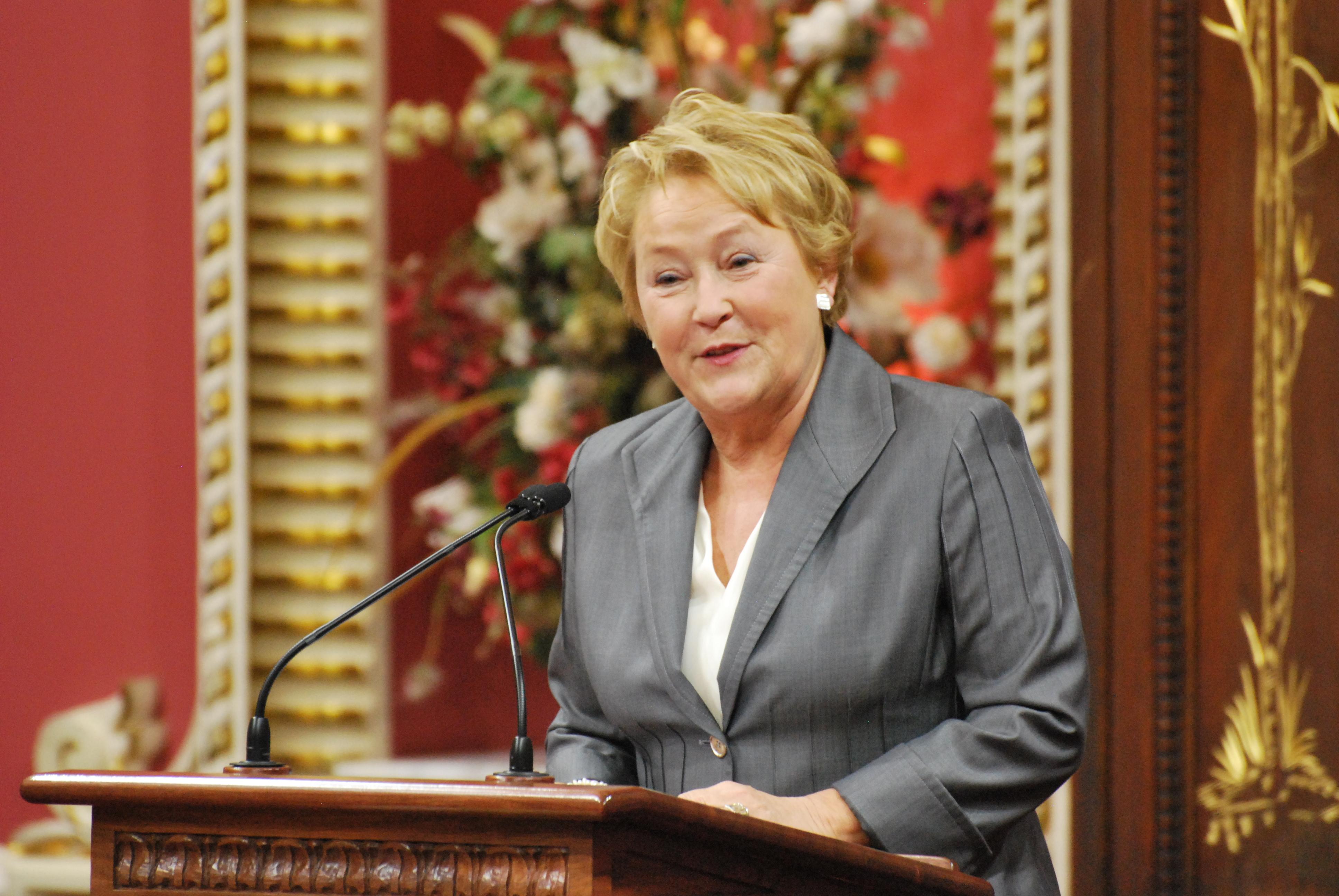 Pauline Marois, 2013.
