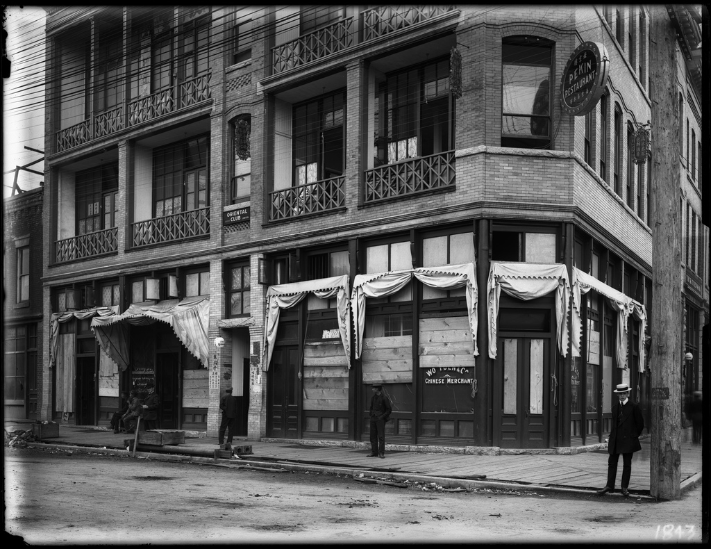 Vancouver's Chinatown after the riot in 1907.