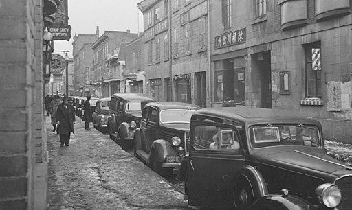 Le quartier chinois de Montréal, vers 1940