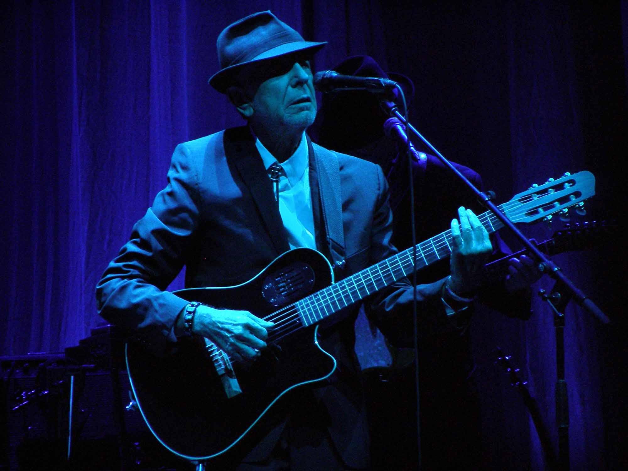 Leonard Cohen en concert à Florence
