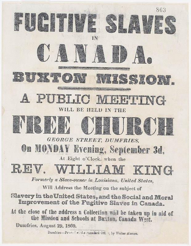 Fugitive Slaves in Canada, 1860