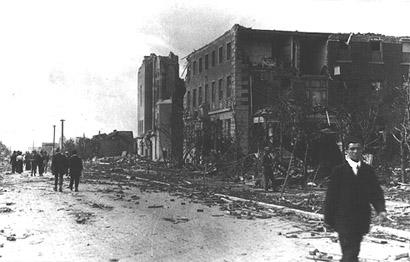 Regina Tornado, Downtown