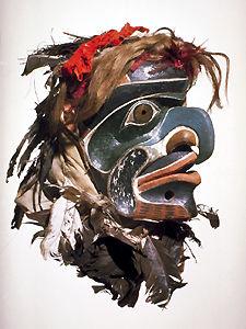 Kwakwaka'wakw (Kwakiutl) Hawk Spirit Mask