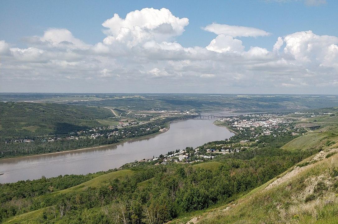 La rivière de la Paix, en Albertaa