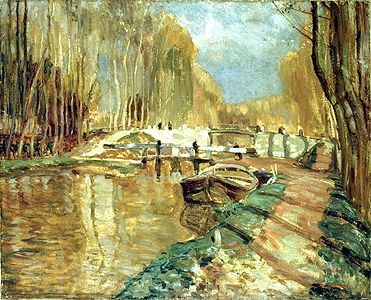 Canal du Loing near Episy