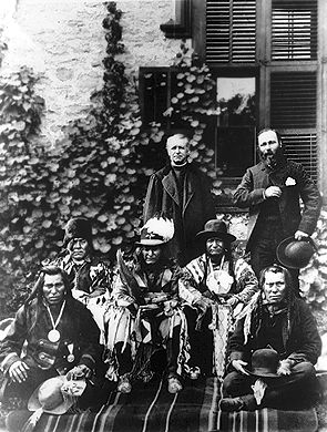 Albert Lacombe with Indigenous Leaders
