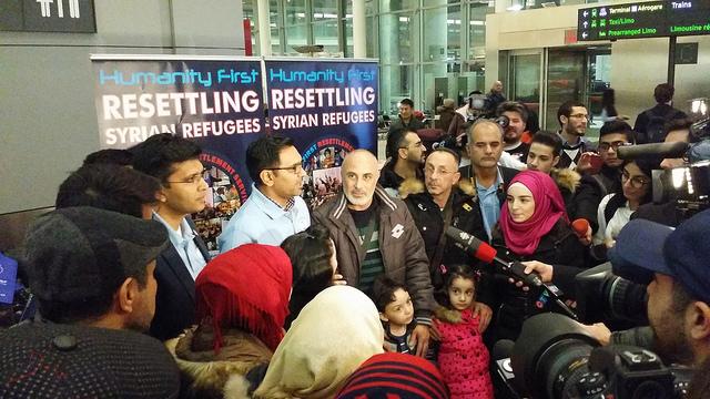 Syrian Refugee Family Landed in Toronto, 9 dec. 2015