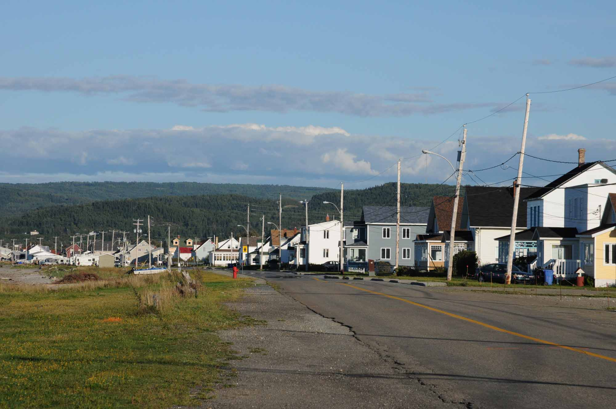Quebec, the small village of Cap Chat in Gaspésie