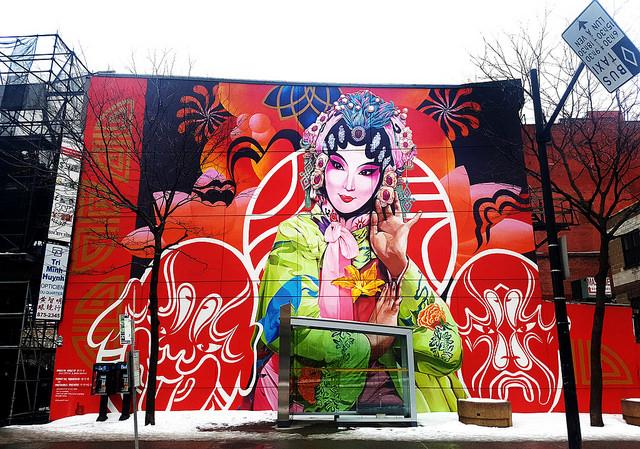 Murale du quartier chinois de Montréal