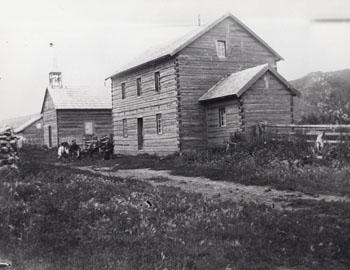 Roman Catholic Mission, Fort Dunvegan, Alberta, 1899