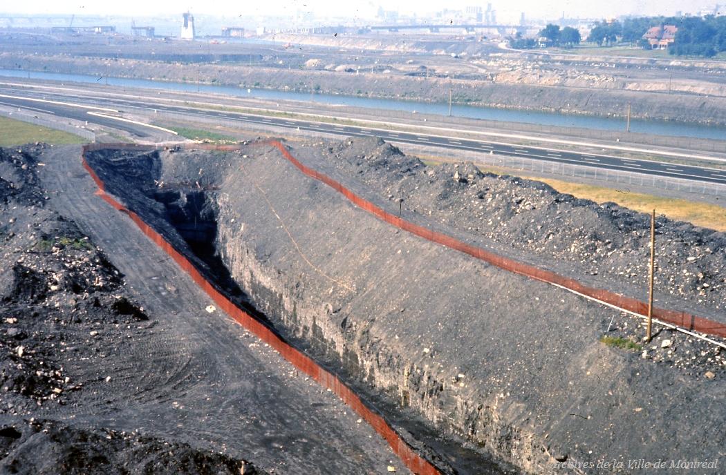 Excavation du métro sur l