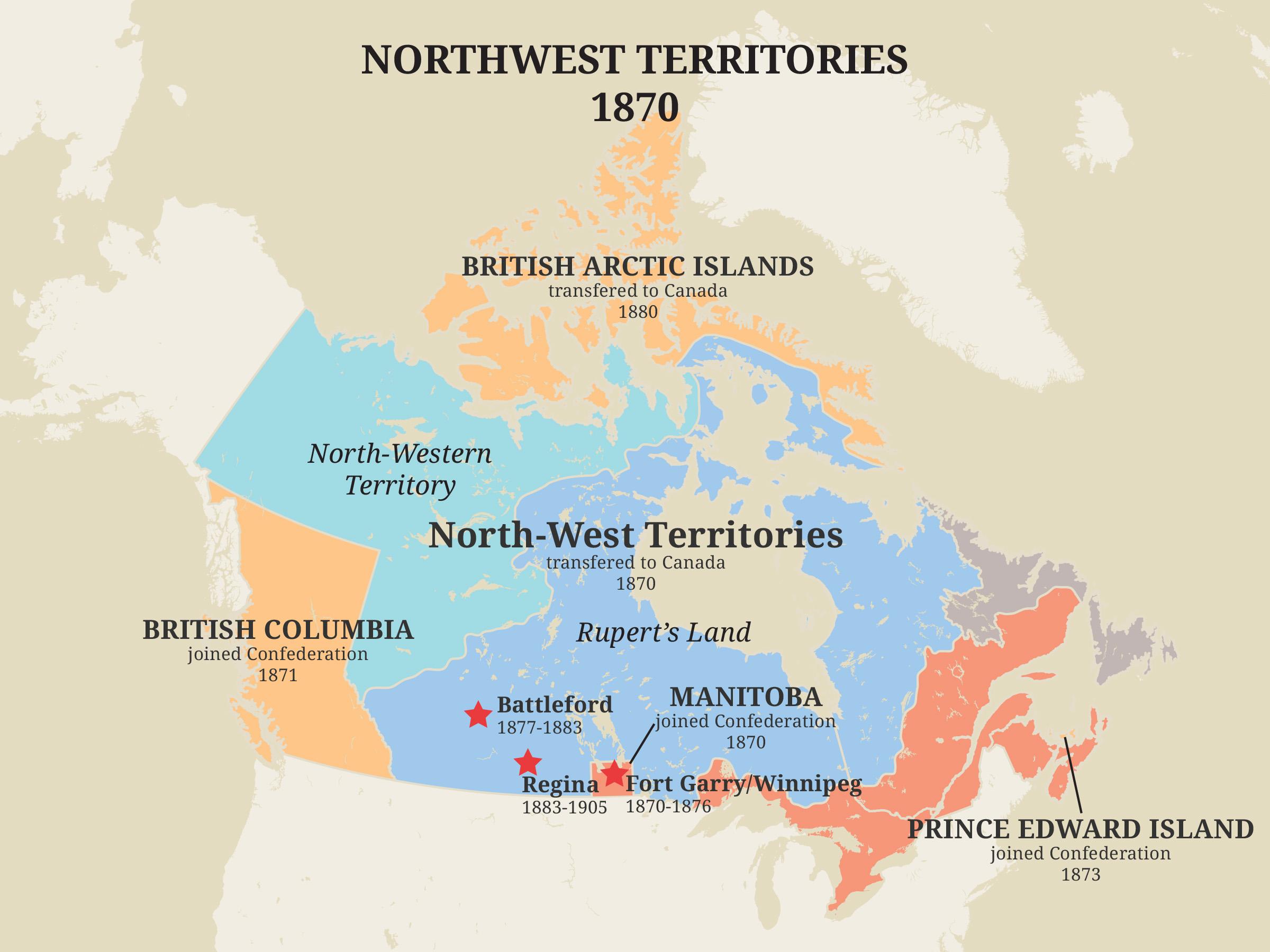 Territoires du Nord-Ouest, 1870