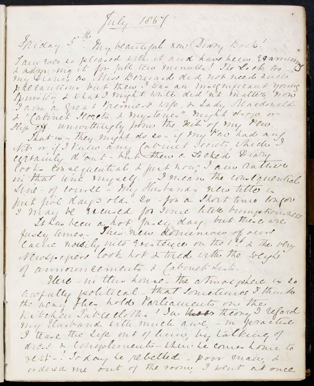 Journal de Lady Macdonald, 5 juillet 1867