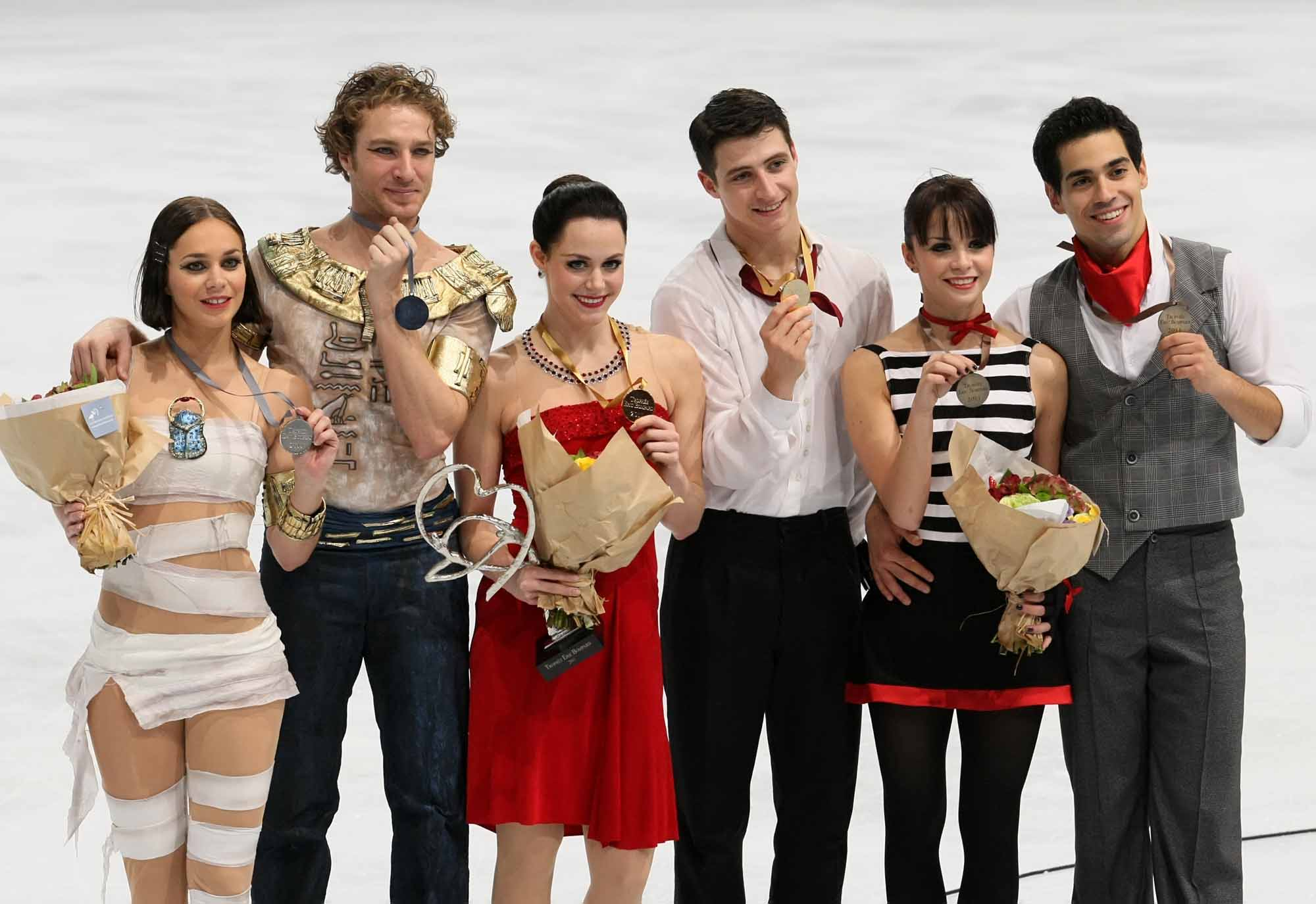 Medalists in ice dance