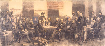 The Quebec Conference of 1864, where provincial and federal powers were decided, before Confederation