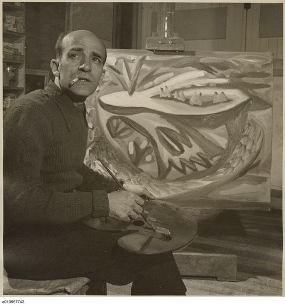 Paul Borduas, 1946.