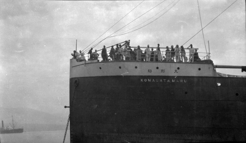 Passagers à bord le navire à vapeur Komagata Maru en 1914.
