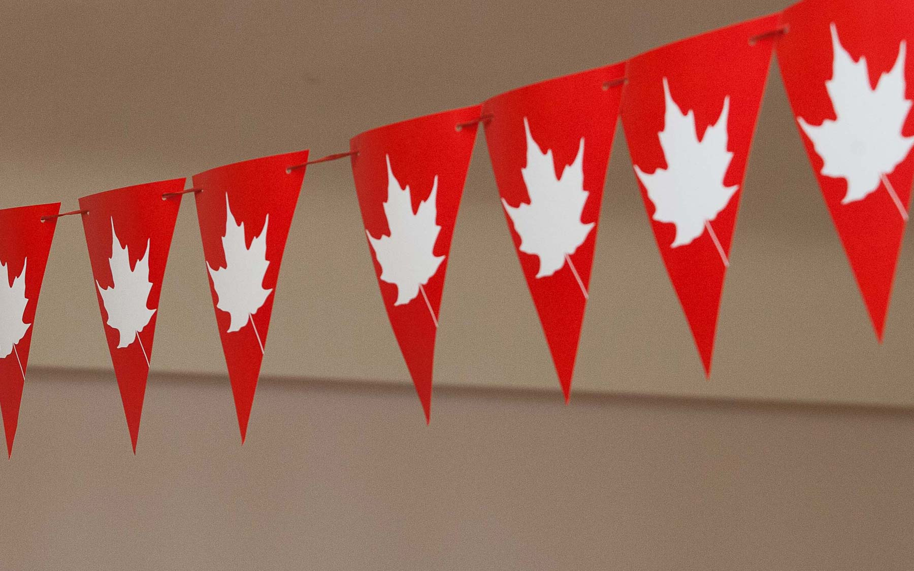 Canada Day party decorations.