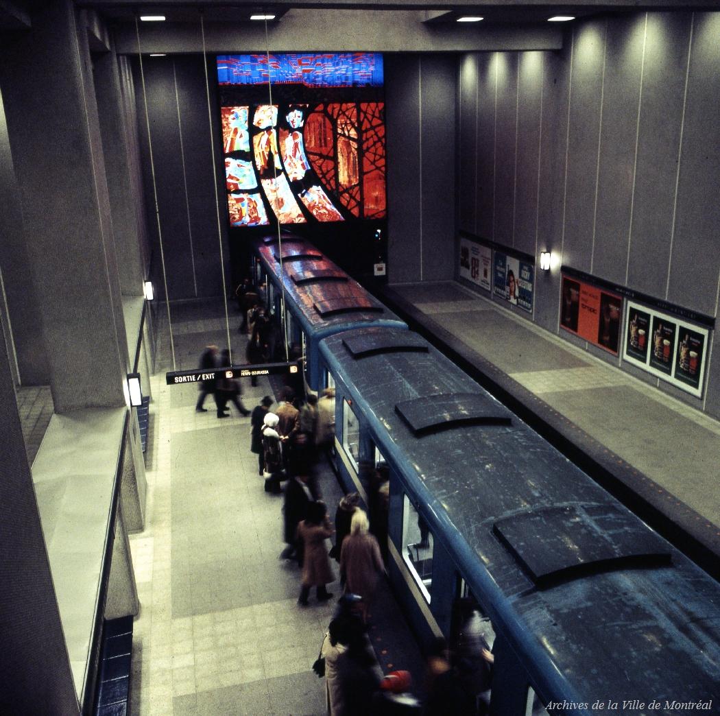 Métro de Montréal, station Berri-De Montigny, 1972