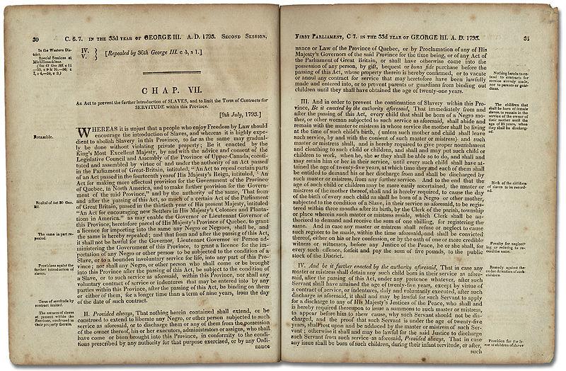 Loi visant à restreindre l'esclavage